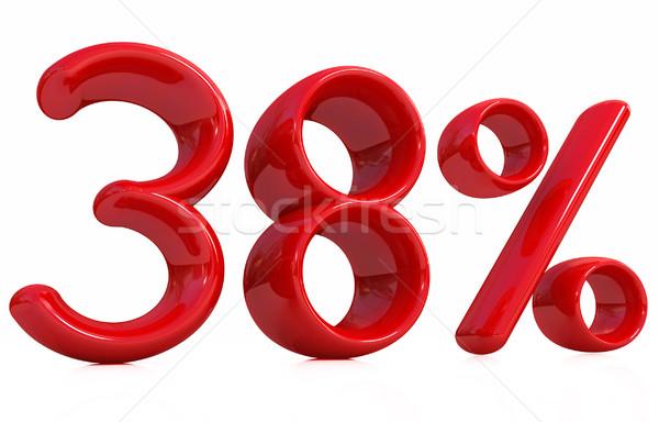 3d red '38' - thirty eight percent Stock photo © Guru3D
