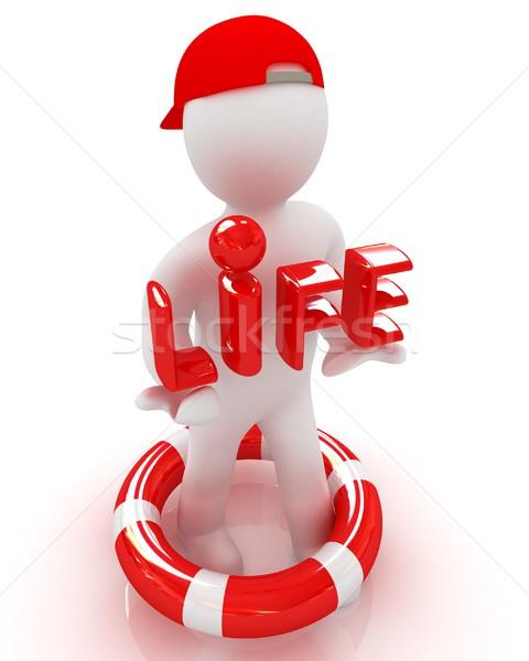 Concept of life-saving with 3d man Stock photo © Guru3D