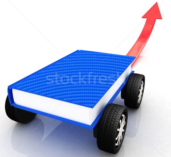 Race auto wereld kennis papier boek Stockfoto © Guru3D