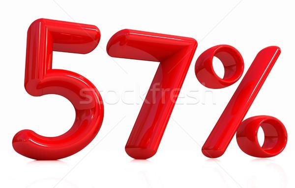 3D 赤 50 7 パーセント 白 ストックフォト © Guru3D