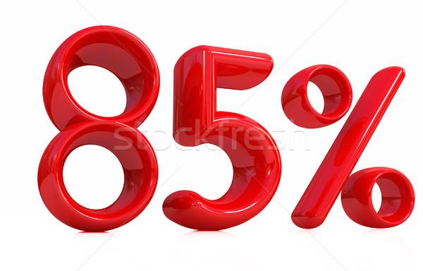 3D rojo por ciento blanco ordenador signo Foto stock © Guru3D
