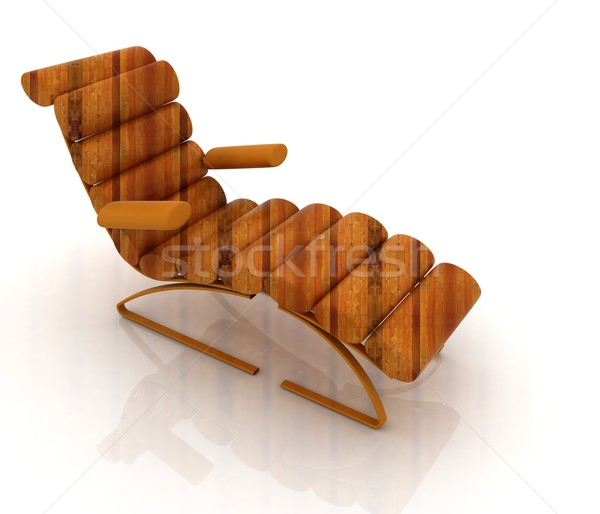 Comfortable wooden Sun Bed Stock photo © Guru3D