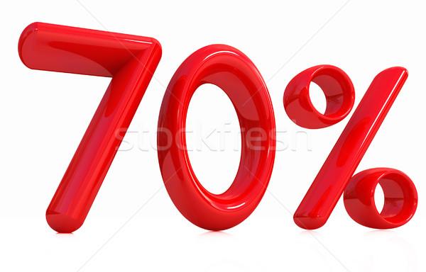3D Rood procent witte computer teken Stockfoto © Guru3D