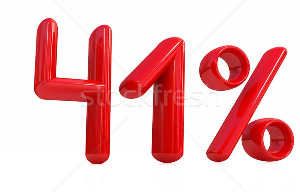 3D красный сорок один процент белый Сток-фото © Guru3D