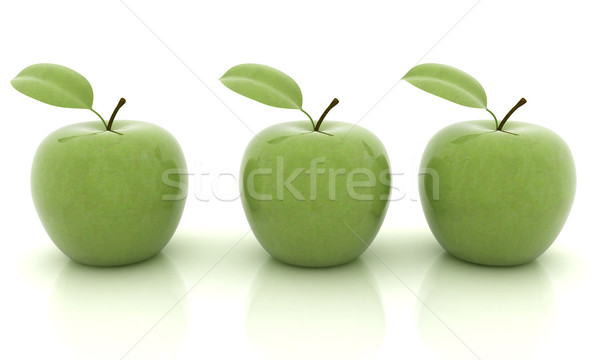 リンゴ 白 食品 自然 葉 フルーツ ストックフォト © Guru3D