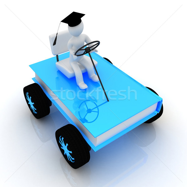 on race cars in the world of knowledge. The concept of rapid lea Stock photo © Guru3D