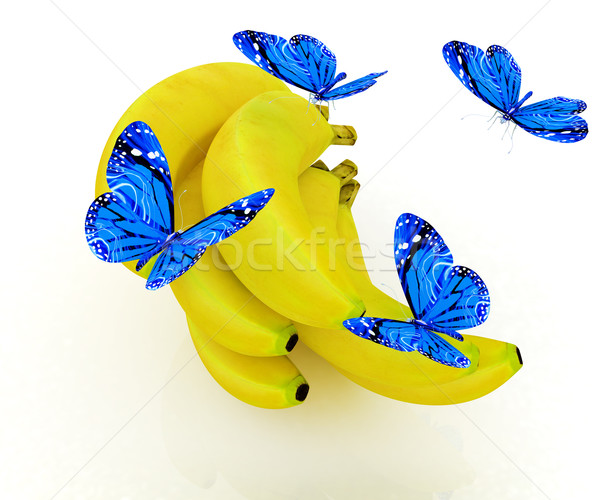 Mavi muz beyaz gıda kelebek doğa Stok fotoğraf © Guru3D