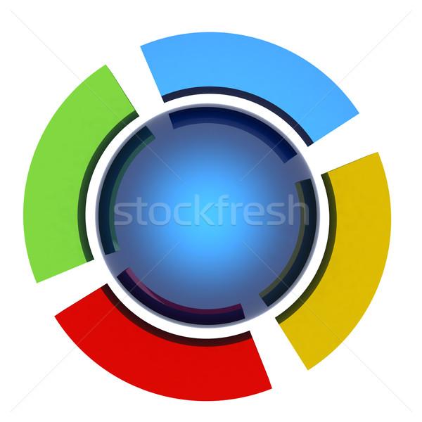 Soyut mavi küre renkli arka plan turuncu Stok fotoğraf © Guru3D