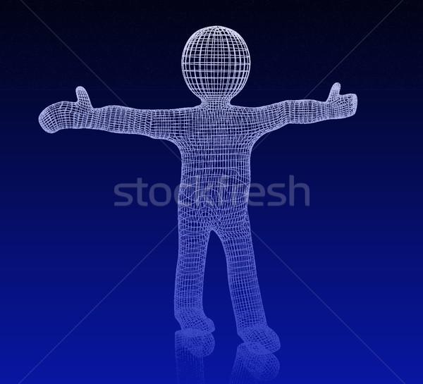 3次元の男 医療 アイコン 3D 白人 クロス ストックフォト © Guru3D