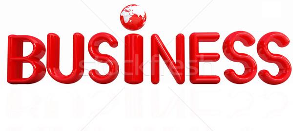 3d tekst business witte geld aarde teken Stockfoto © Guru3D
