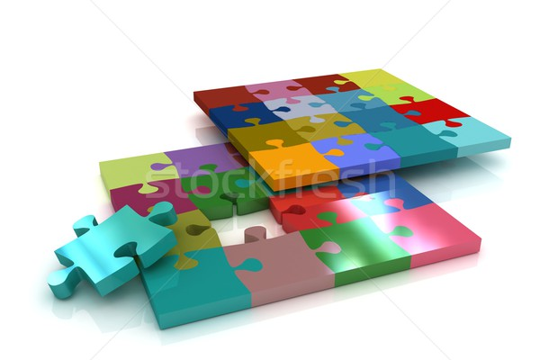 Many-colored puzzle pattern Stock photo © Guru3D