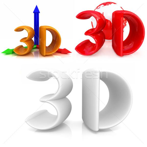 3d tekst ingesteld witte business technologie theater Stockfoto © Guru3D