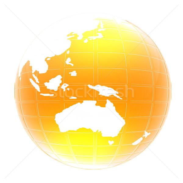 Yellow 3d globe icon with highlights  Stock photo © Guru3D