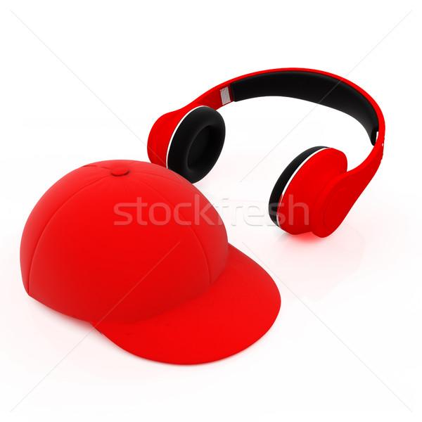 キャップ ヘッドホン 白 音楽 デザイン 世界 ストックフォト © Guru3D