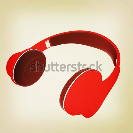 Hoofdtelefoon witte muziek telefoon radio concert Stockfoto © Guru3D