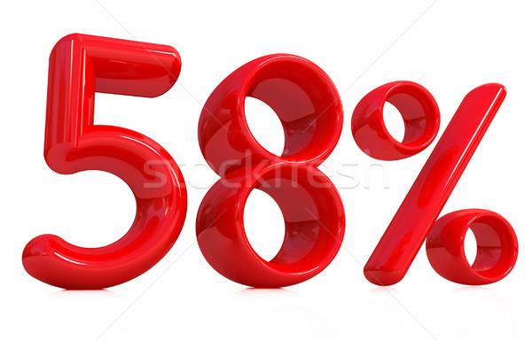 3D rojo cincuenta ocho por ciento blanco Foto stock © Guru3D