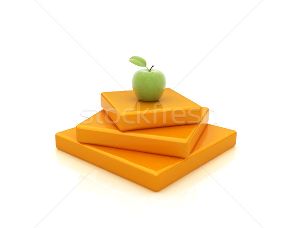 Abstract structure with apple. Japanese still life  Stock photo © Guru3D