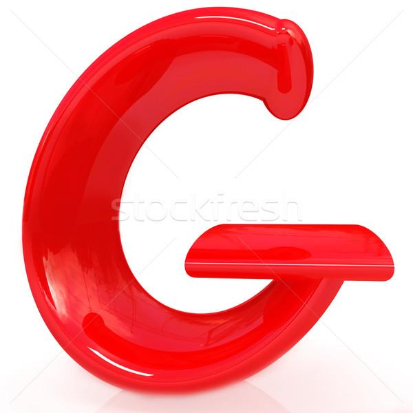 Alphabet on white background. Letter 'G' Stock photo © Guru3D