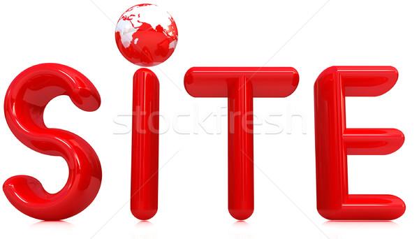 3d illustration text 'site' Stock photo © Guru3D