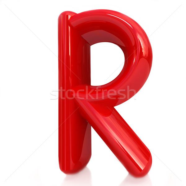 Alphabet on white background. Letter 'R' Stock photo © Guru3D