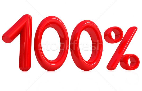 3D красный 100 сто процент белый Сток-фото © Guru3D