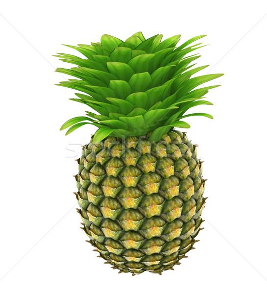 Ananas beyaz gıda yaz yeşil içmek Stok fotoğraf © Guru3D