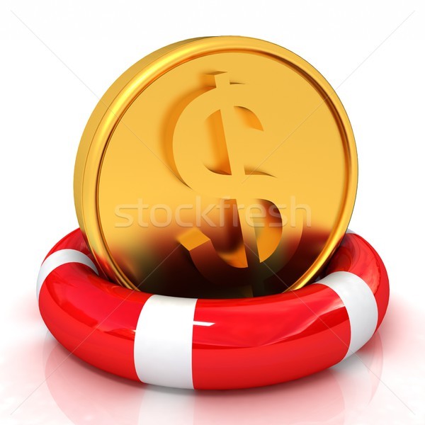Coin dollar on  lifeline Stock photo © Guru3D
