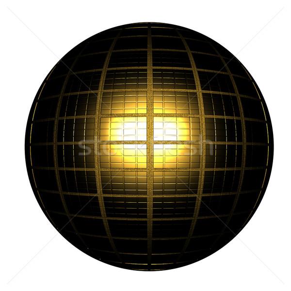 Black Gold Ball 3d render  Stock photo © Guru3D