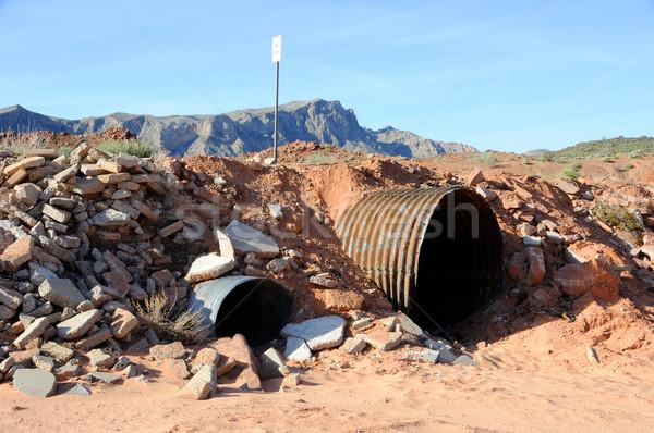砂漠 洗浄 ネバダ州 道路 オレンジ 砂 ストックフォト © gwhitton