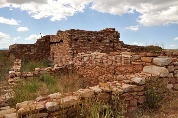 Starożytnych indian zrujnować Utah domu pustyni Zdjęcia stock © gwhitton