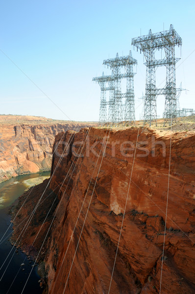Power Transmission Lines at Glen Canyon Dam  Stock photo © gwhitton