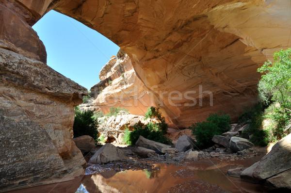 Naturalnych most południowy Utah krajobraz lata Zdjęcia stock © gwhitton