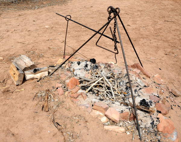 Traditional Pioneer Fire Pit at Pipe Springs National Historic Park Stock photo © gwhitton