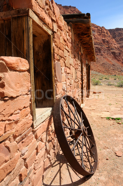 Pont historisch gebouw canyon ontspanning rock Stockfoto © gwhitton