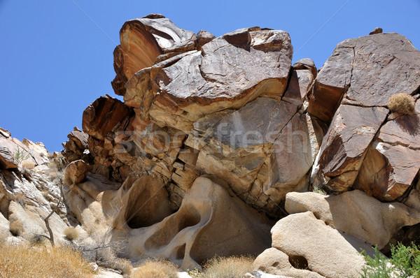 Asma kanyon Nevada gökyüzü kaya yürüyüş Stok fotoğraf © gwhitton