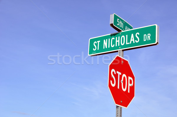 Saint Nicholas Drive in North Pole, Alaska  Stock photo © gwhitton
