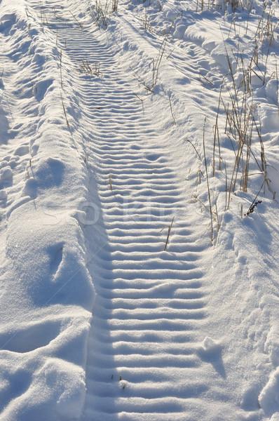 雪 マシン トラック ファーム フィールド 冬 ストックフォト © gwhitton