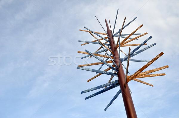 Bestemming business hemel teken Stockfoto © gwhitton