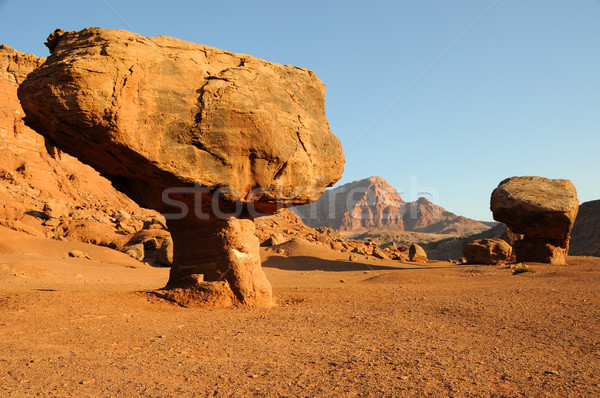 Balanced Boulder below Vermilion Cliffs  Stock photo © gwhitton