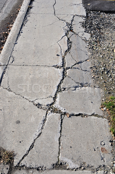 Cracked Sidewalk in Urban Area Stock photo © gwhitton