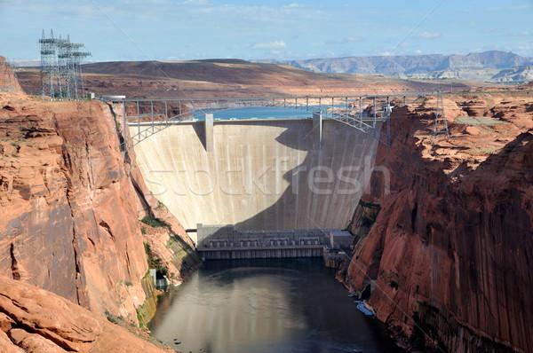 峡谷 コロラド州 川 建設 砂漠 旅行 ストックフォト © gwhitton