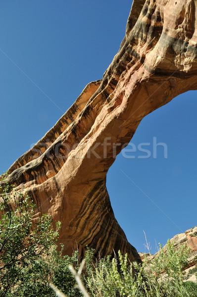 Natuurlijke brug zuidelijk Utah hemel natuur Stockfoto © gwhitton