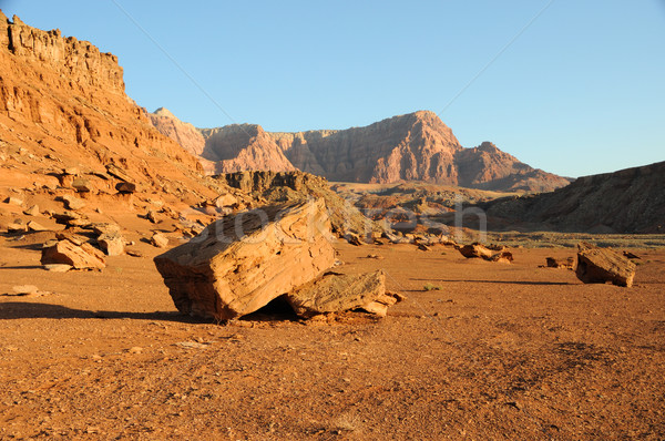 Boulder below Vermilion Cliffs Stock photo © gwhitton