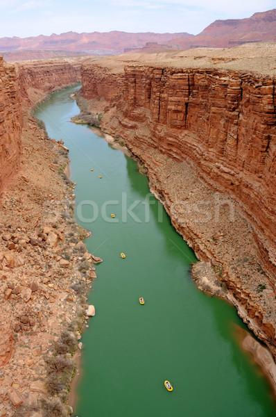 Brug marmer canyon beneden ontspanning water Stockfoto © gwhitton