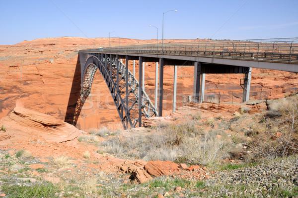 Kanion most charakter metal niebieski przemysłowych Zdjęcia stock © gwhitton