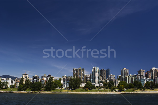 Beachfront apartments with green space Stock photo © Habman_18