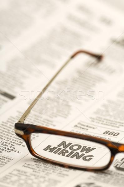 Now Hiring in glasses Stock photo © Habman_18