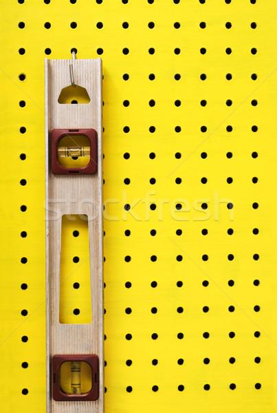 Kullanılmış seviye asılı eski kanca sarı Stok fotoğraf © Habman_18