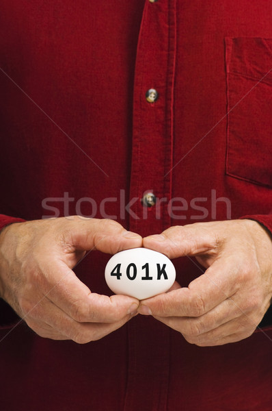 RRSP on egg held by man Stock photo © Habman_18