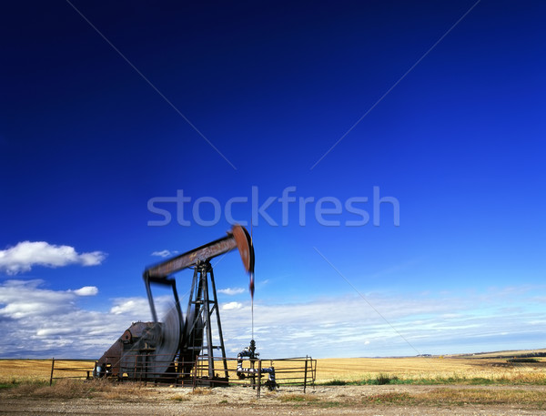 Pumpjack in action Stock photo © Habman_18